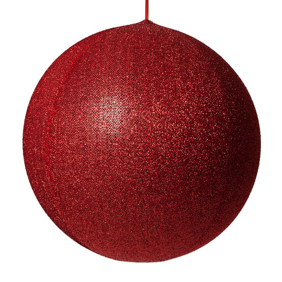 "20"" Red Inflatable Christmas Ornament, Metallic Polymesh"