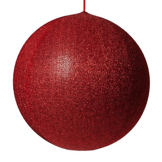 "20"" Red Inflatable Christmas Ornament, Metallic Polymesh"