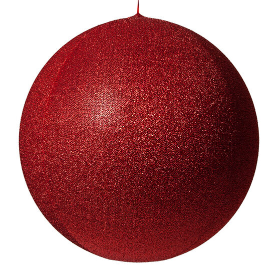 "28"" Red Inflatable Christmas Ornament, Metallic Polymesh"