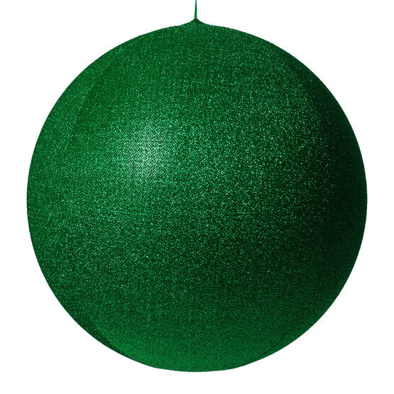 "28"" Green Inflatable Christmas Ornament, Metallic Polymesh"