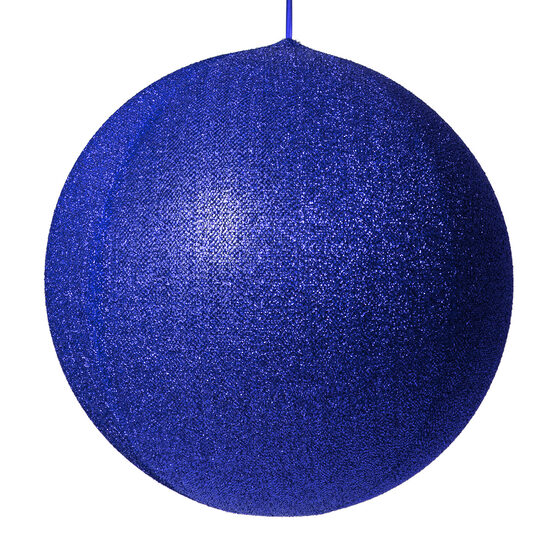"20"" Blue Inflatable Christmas Ornament, Metallic Polymesh"