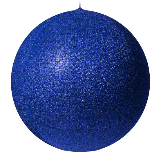 "28"" Blue Inflatable Christmas Ornament, Metallic Polymesh"