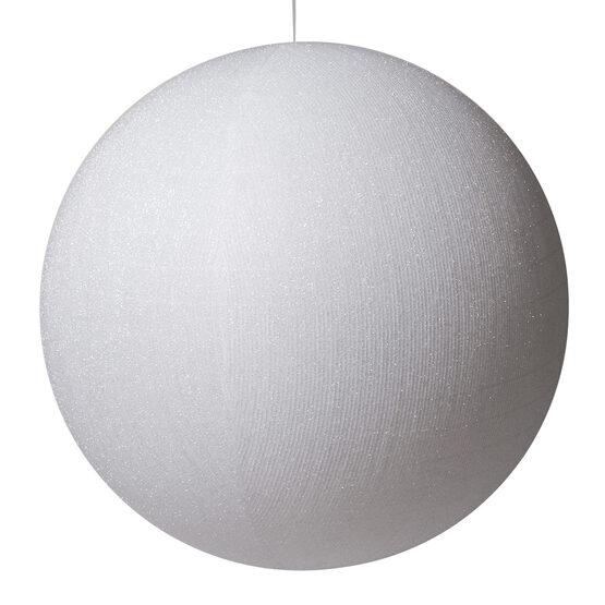 "28"" White Inflatable Christmas Ornament, Metallic Polymesh"