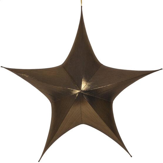 "60"" Gold Unlit Hanging Star, Fold Flat Frame with Metallic Lame"