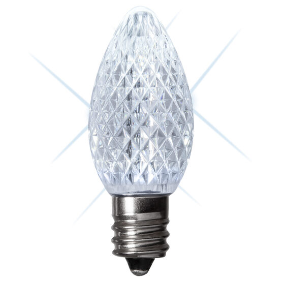 C7 LED Light Bulbs, Cool White Twinkle, by Kringle Traditions TM