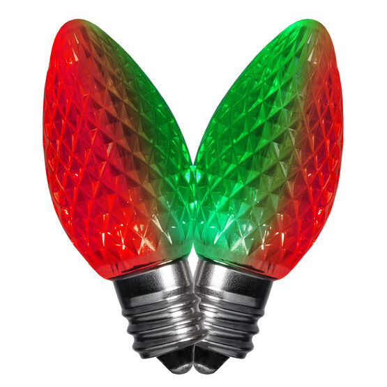 C7 LED Light Bulbs, Red-Green Color Change, by Kringle Traditions TM