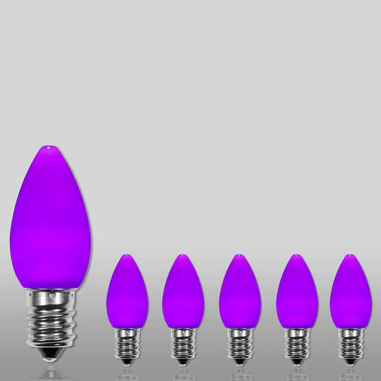 C7 Smooth OptiCore LED Light Bulbs, Purple