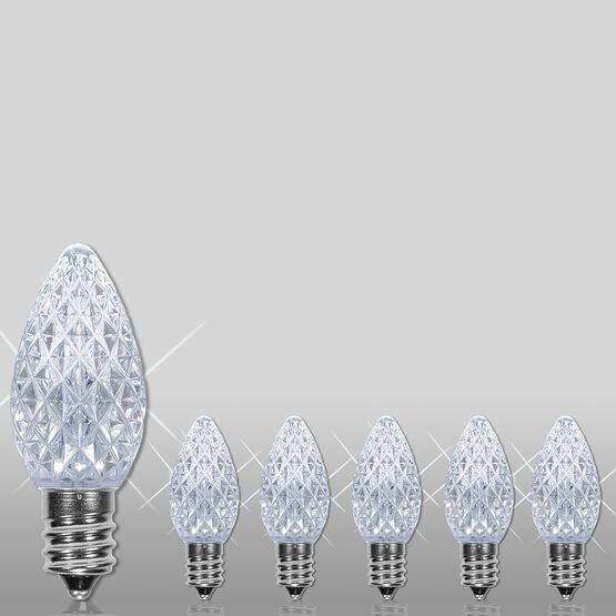 C7 OptiCore TM LED Light Bulbs, Cool White Twinkle