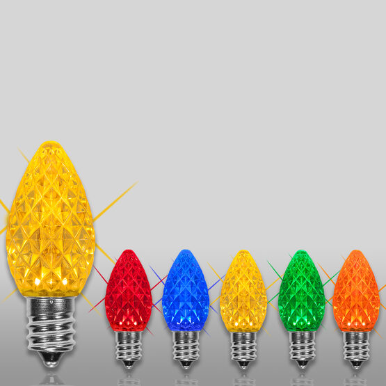 C7 OptiCore TM LED Light Bulbs, Multicolor Twinkle