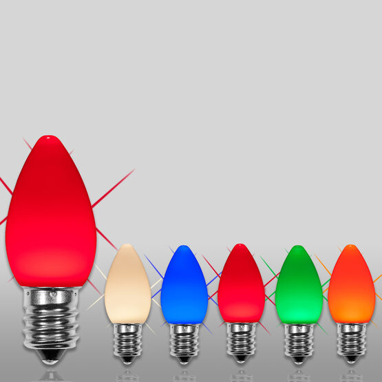 C7 Smooth OptiCore TM LED Light Bulbs, Multicolor Twinkle