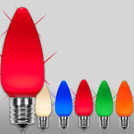 C9 Smooth OptiCore TM LED Light Bulbs, Multicolor Twinkle