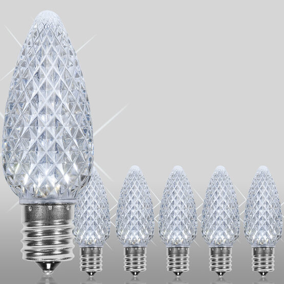 C9 OptiCore TM LED Light Bulbs, Cool White Twinkle
