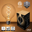 G95 Globe Light FlexFilament TM LED Edison Light Bulb, Warm White Transparent Glass