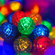 Raspberry LED String Lights, Multicolor, Green Wire