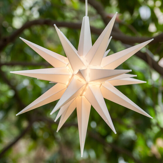 Lighted Moravian Star, White LED