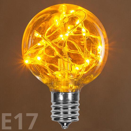 G50 LEDimagine TM Fairy Globe Light Bulb, Gold, E17 Base