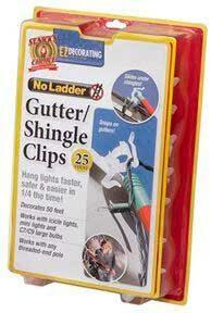Gutter / Shingle Eaves Clip, Pack of 25