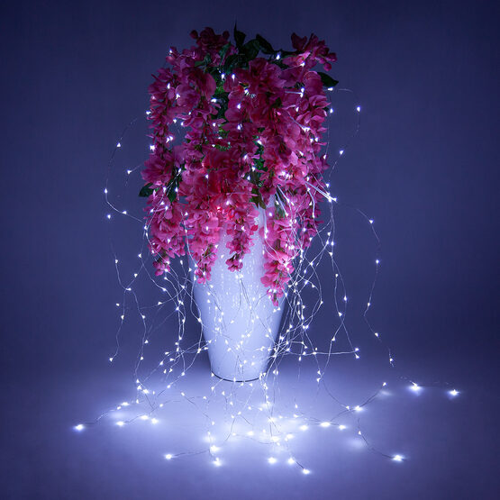 White Falling Willow LED Lighted Branches, Cool White Fairy Lights, 1 pc