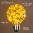 G80 LEDimagine TM Fairy Globe Light Bulb, Gold