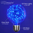 G80 LEDimagine TM Fairy Globe Light Bulb, Blue