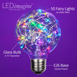 G80 LEDimagine TM Fairy Globe Light Bulb, RGB Color Change
