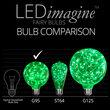 G95 LEDimagine TM Fairy Globe Light Bulb, Green