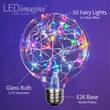 G95 LEDimagine TM Fairy Globe Light Bulb, RGB Color Change