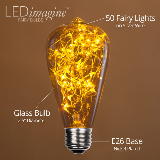 ST64 LEDimagine TM Fairy Light Bulb, Gold