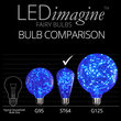 ST64 LEDimagine TM Fairy Light Bulb, Blue