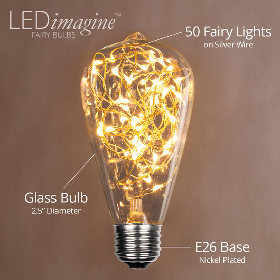 ST64 LEDimagine TM Fairy Light Bulb, Warm White