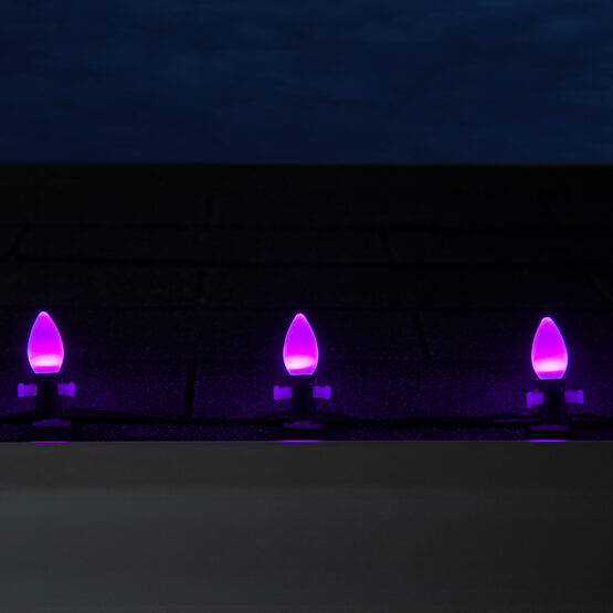 Smooth Opticore TM C7 Commercial LED String Lights, Purple