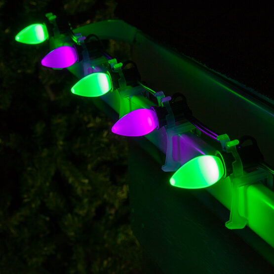Smooth Opticore TM C7 Commercial LED String Lights, Purple/Green