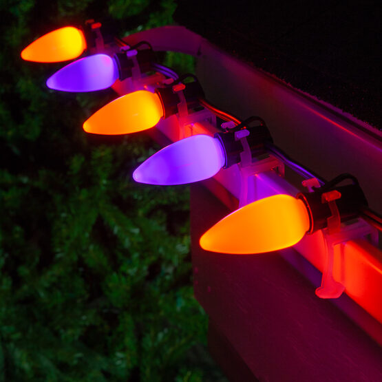 Smooth Opticore TM C9 Commercial LED String Lights, Purple/Amber