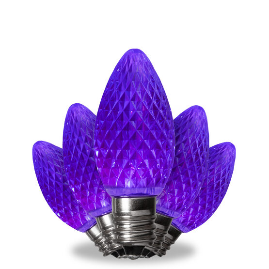 C7 LED Light Bulbs, Purple, by Kringle Traditions TM