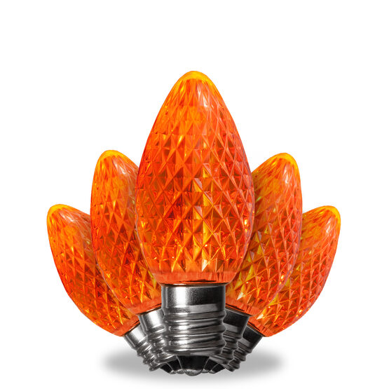C7 LED Light Bulbs, Amber / Orange, by Kringle Traditions TM