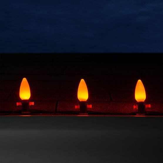C9 Smooth OptiCore LED Light Bulbs, Amber / Orange