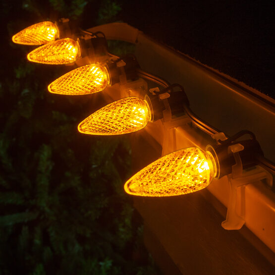 C9 LED Light Bulbs, Gold, by Kringle Traditions TM