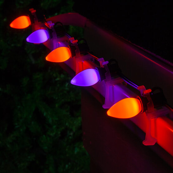 Smooth Opticore C7 Commercial LED String Lights, Purple/Amber