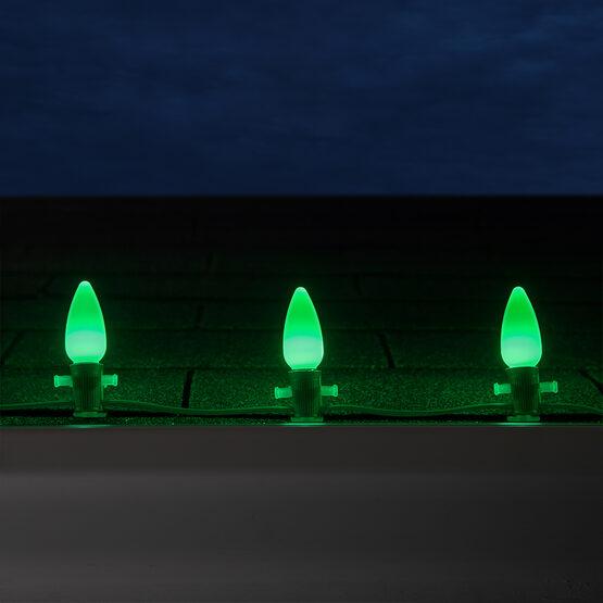 C9 Smooth OptiCore TM LED Light Bulb, Green
