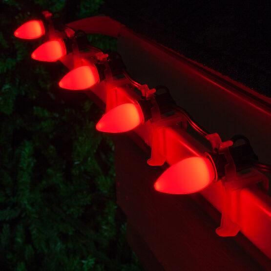 C7 Smooth OptiCore LED Light Bulb, Red