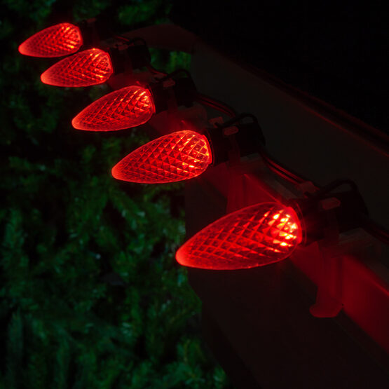 OptiCore C9 Commercial LED String Lights, Red, 25 Lights, 25'