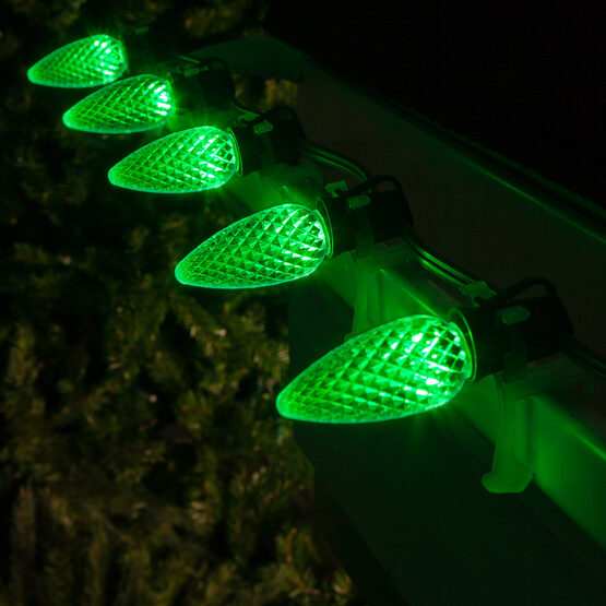 Opticore C9 Commercial LED String Lights, Green