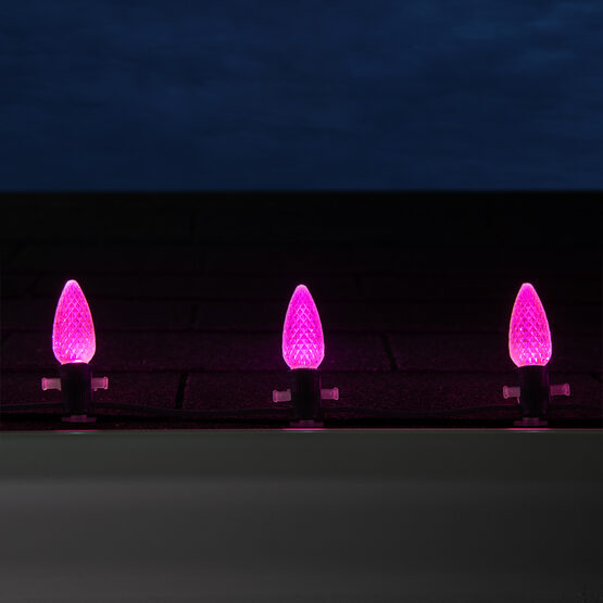 Opticore C9 Commercial LED String Lights, Pink
