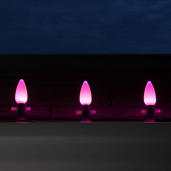 Smooth Opticore C9 Commercial LED String Lights, Pink