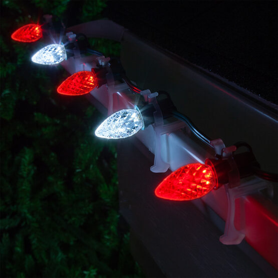Opticore TM C7 Commercial LED String Lights, Red/Cool White