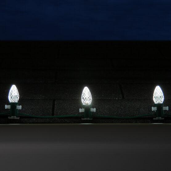 Opticore TM C7 Commercial LED String Lights, Cool White, 25 Lights, 25'
