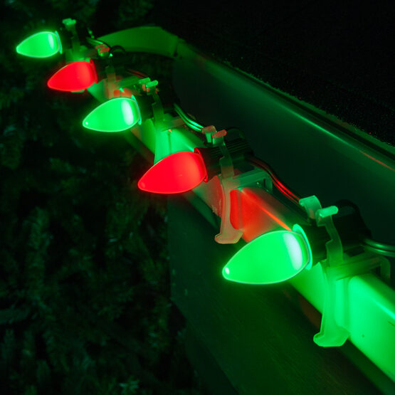 Smooth Opticore TM C7 Commercial LED String Lights, Red/Green