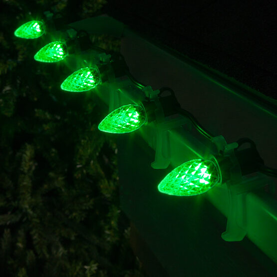 Opticore TM C7 Commercial LED String Lights, Green