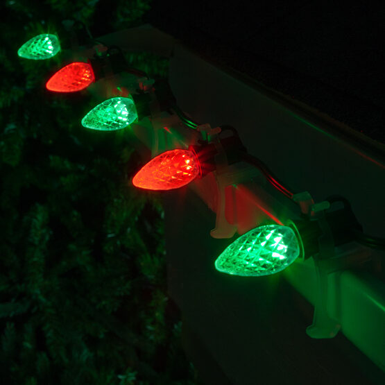 Opticore C7 Commercial LED String Lights, Red/Green