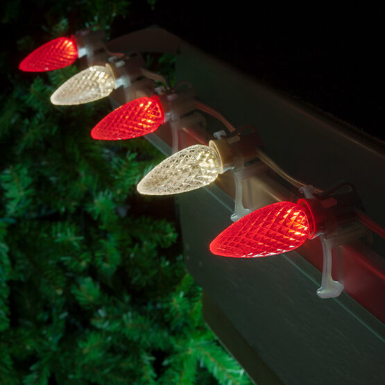 Opticore TM C9 Commercial LED String Lights, Red/Warm White